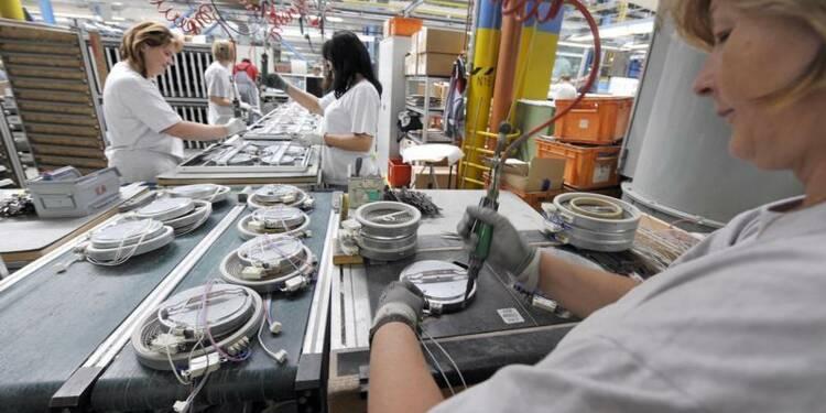 Moindre contraction du secteur manufacturier en janvier