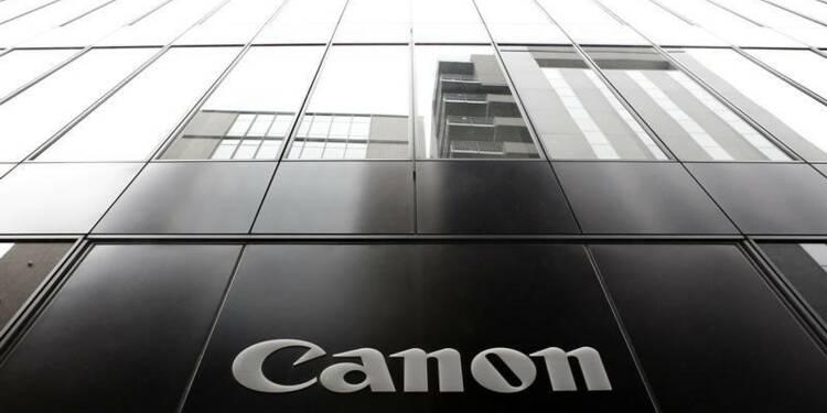 Canon relève légèrement son objectif de résultat annuel