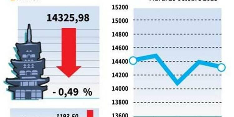 La Bourse de Tokyo finit en baisse de 0,49%