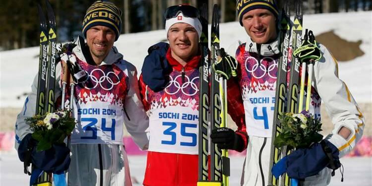 JO: le Suisse Cologna s'offre un second titre en ski de fond