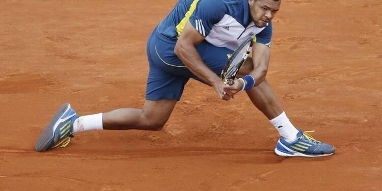 Roland-Garros: Jo-Wolfried Tsonga en quart avec tous ses sets