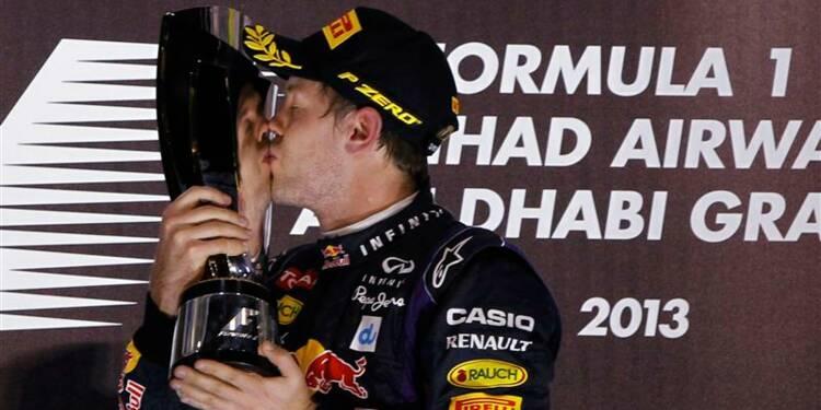 F1: Sebastian Vettel, insatiable, s'impose à Abou Dhabi