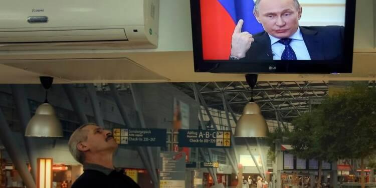 Poutine exclut la force pour le moment, répond sur l'économie