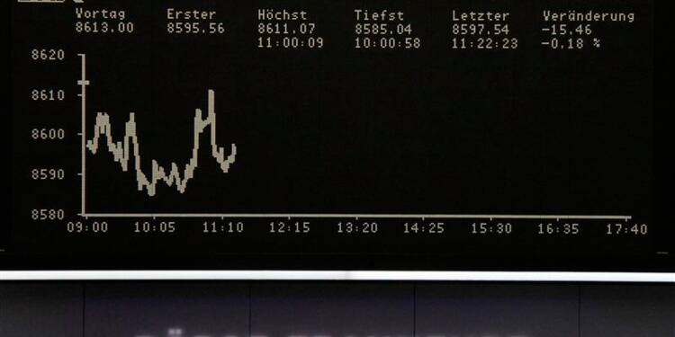 Les Bourses européennes en légère baisse à mi-séance
