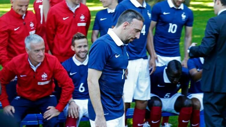 Mondial: coup dur pour la France, privée de Franck Ribéry