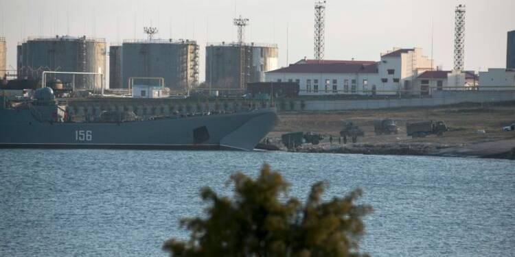 Arrivée de renforts russes en Crimée