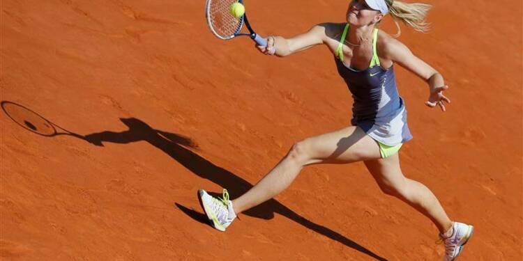 Roland-Garros: Sharapova bataille pour aller en demi-finale