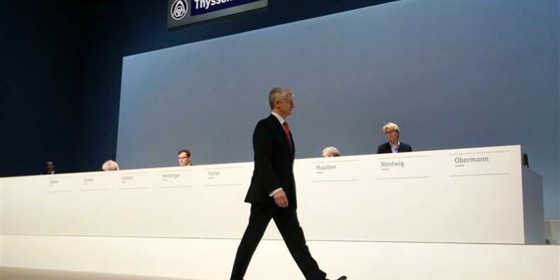 ThyssenKrupp fait appel à la patience de ses actionnaires