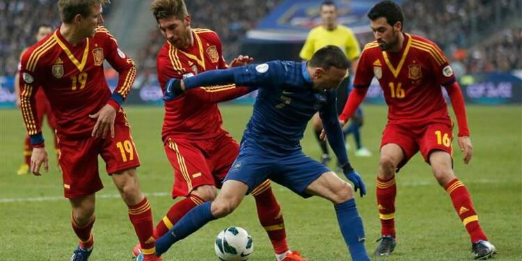 Mondial: la France perd 1-0 contre l'Espagne