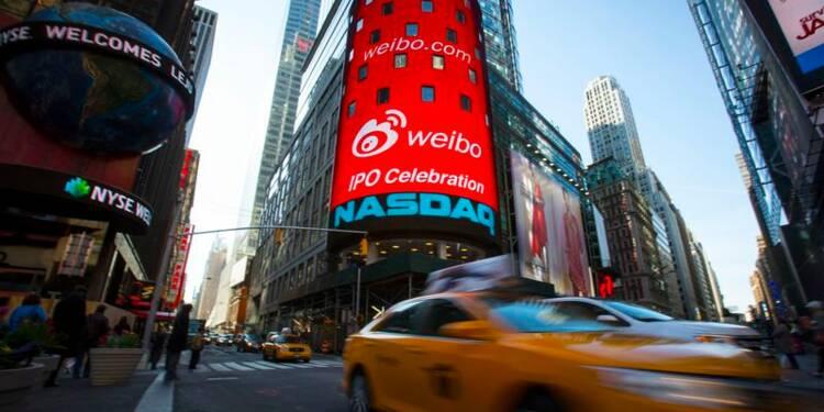 Weibo en forte hausse pour ses débuts sur le Nasdaq