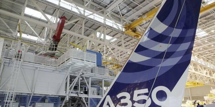 Le premier vol de l'A350 d'Airbus aura lieu vendredi