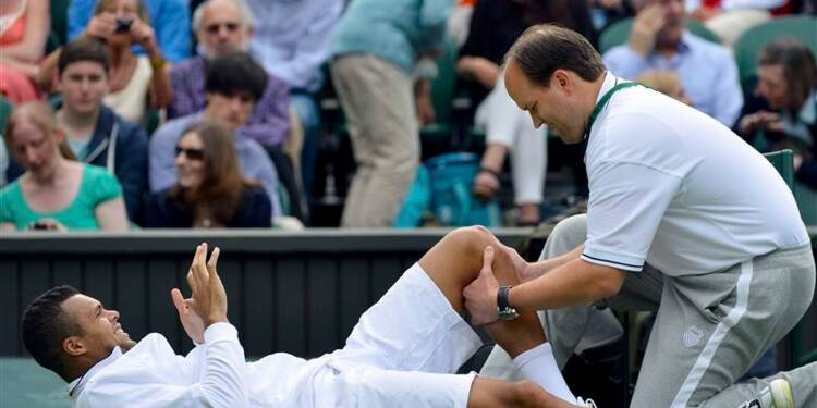 Wimbledon: Jo-Wilfried Tsonga abandonne sur blessure
