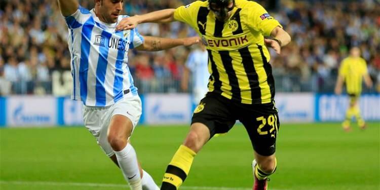 Ligue des champions: Malaga et Dortmund gardent espoir