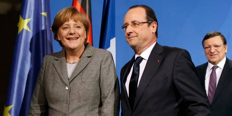 Hollande et Merkel font voeu de relancer la compétitivité