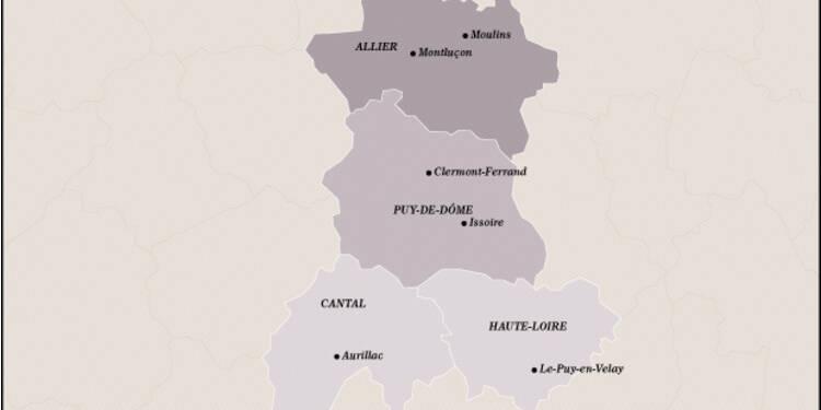 Auvergne (14ème) : maintenue à flot par Michelin et l'agroalimentaire