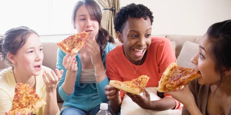 La plupart des pizzas font moins grossir que les burgers