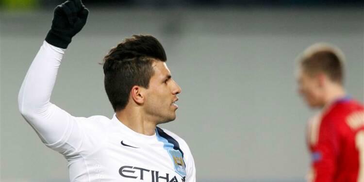 Ligue des champions: Sergio Agüero sort City d'un mauvais pas