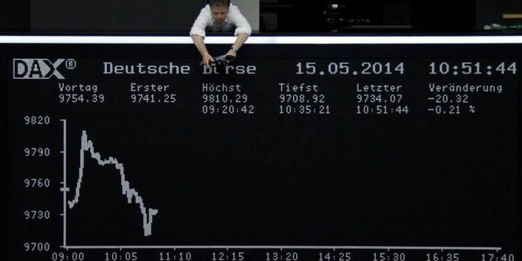Les Bourses européennes peu changées à la mi-journée
