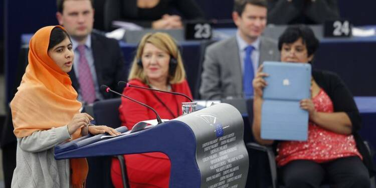 Prix Sakharov, Malala plaide pour l'éducation à Strasbourg