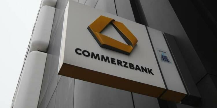 Perte trimestrielle moins forte que prévu pour Commerzbank