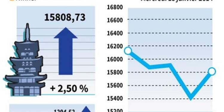 La Bourse de Tokyo rebondit de 2,50%