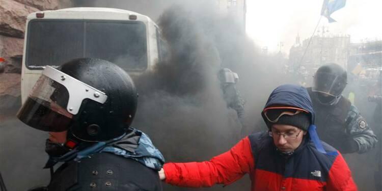 La police ukrainienne intervient place de l'Indépendance, à Kiev