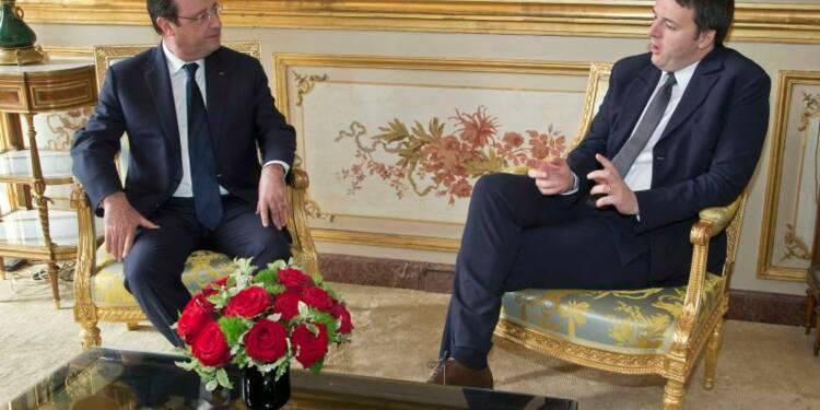 Hollande et Renzi affichent des points communs sur l'économie