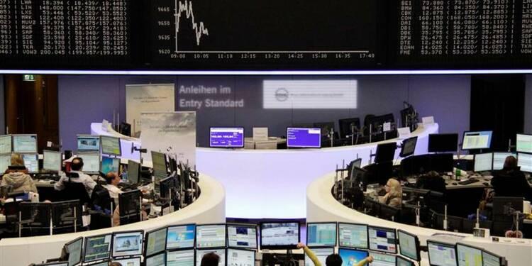 Les Bourses européennes dans le rouge mercredi à mi-séance