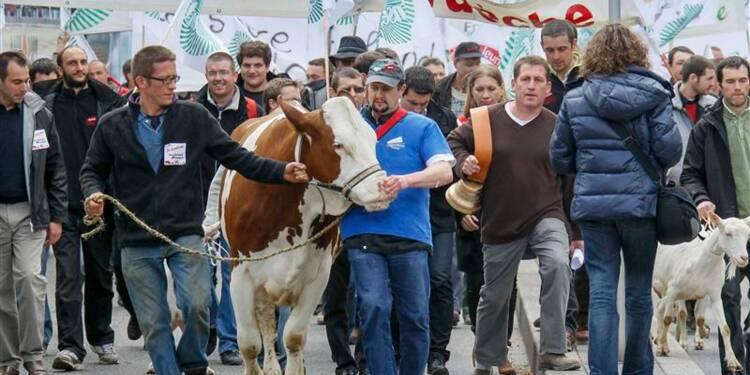 Les agriculteurs dans la rue à Lyon