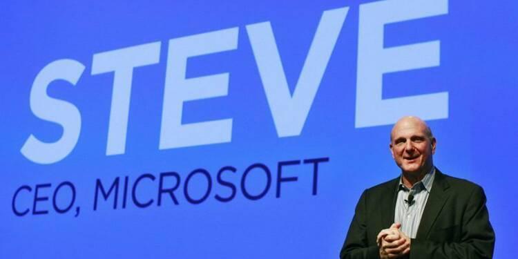 L'action Microsoft bondit à New York, après l'annonce du départ de Steve Ballmer