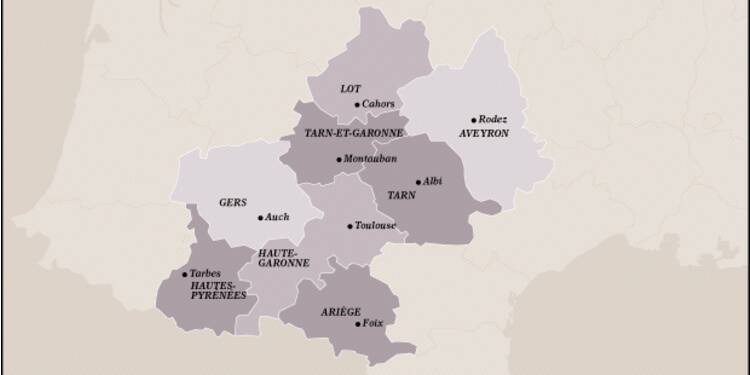 Midi-Pyrénées (2ème) : des emplois créés autour de Toulouse, dopée par Airbus