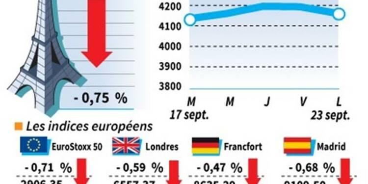 Clôture en baisse des marchés européens, l'Allemagne rassure