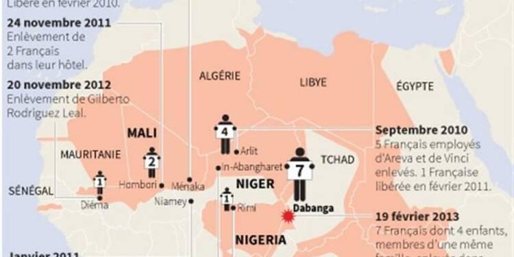Les forces nigérianes à la recherche des sept otages français