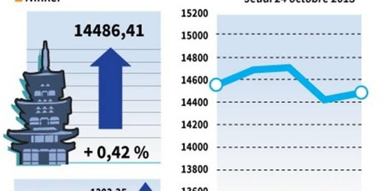 La Bourse de Tokyo finit en hausse de 0,42%