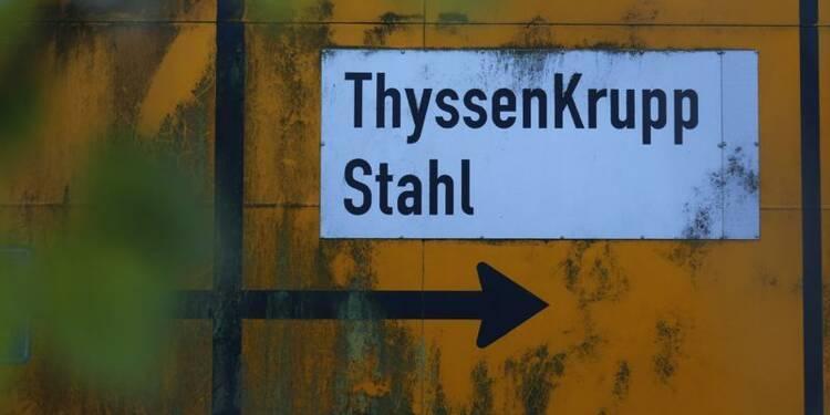 Bond du bénéfice opérationnel trimestriel de ThyssenKrupp