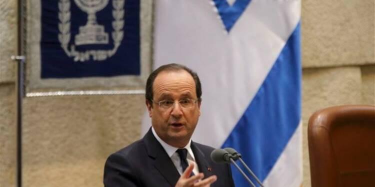 """François Hollande exhorte les Palestiniens à faire des """"gestes"""""""