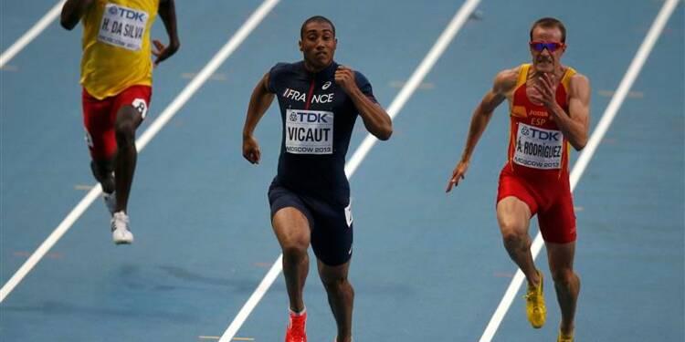 Athlétisme: Lemaitre et Vicaut avec Bolt en demi-finales du 100m