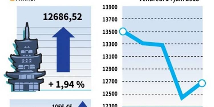 La Bourse de Tokyo finit sur un rebond de 1,94%
