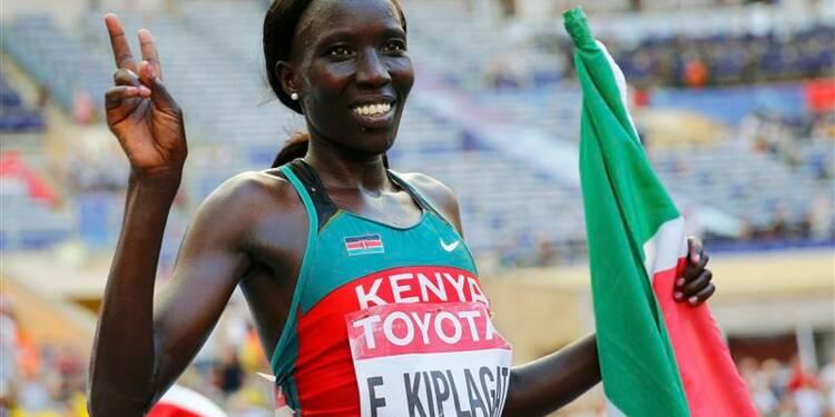 Athlétisme: Edna Kiplagat conserve son titre mondial en marathon