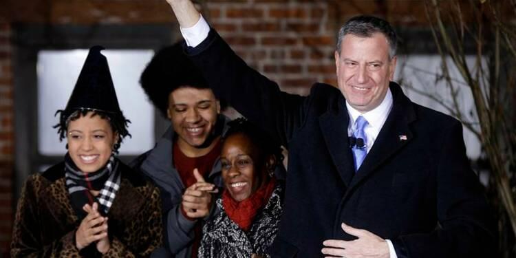 Bill de Blasio prête serment comme nouveau maire de New York