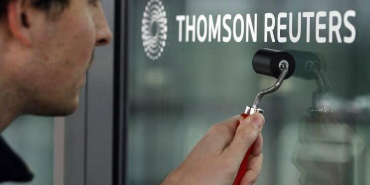 Recul de 7% du bénéfice d'exploitation de Thomson Reuters