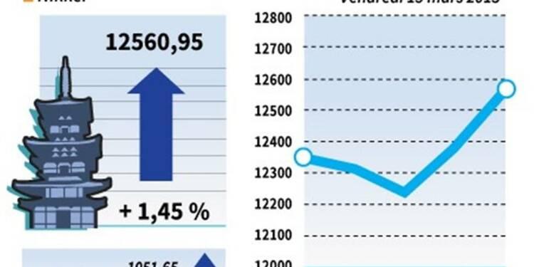 La Bourse de Tokyo finit en hausse de 1,45%