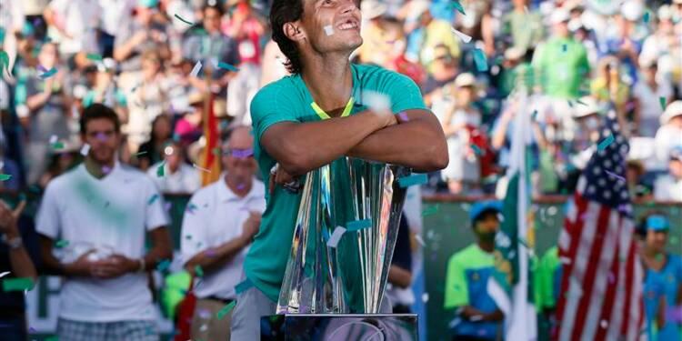 Tennis: Nadal vainqueur à Indian Wells face à Del Potro