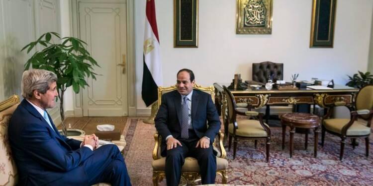 John Kerry en Egypte pour un entretien avec Abdel Fattah al Sissi