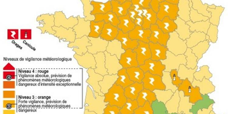 Météo France place 42 départements en alerte orange aux orages