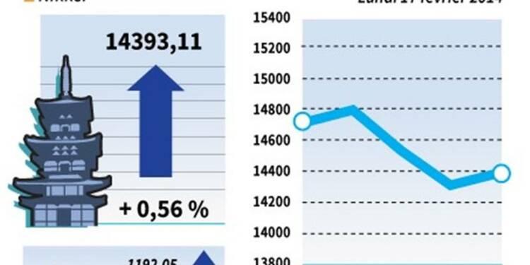 La Bourse de Tokyo finit en hausse de 0,56%