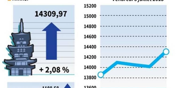 La Bourse de Tokyo finit en hausse de 2,08%