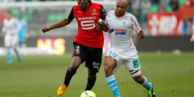 Ligue 1: Rennes ralentit la course de Marseille