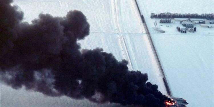 Convoi pétrolier en feu dans le Dakota du Nord, une ville évacuée