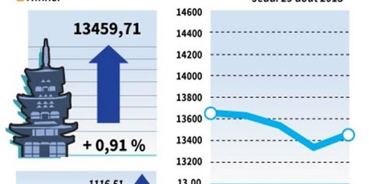 La Bourse de Tokyo finit en hausse de 0,91%